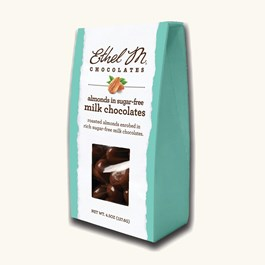 Sugar Free Milk Chocolate Dipped Almonds  — $30-$100